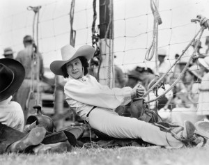 Alice Greenough traveled the world as a trick rider and rodeo star. Photo courtesy of MHS # 942-480.