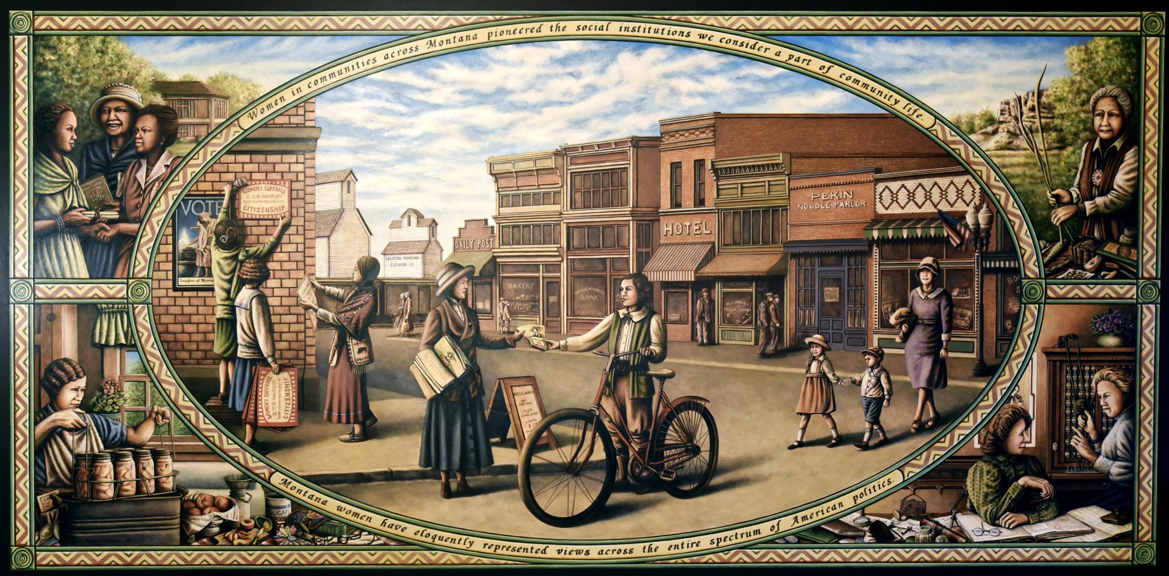 Women Build Montana: the Montana Women's Mural   Women's